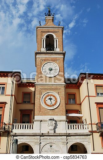 Double clock tower - csp5834763