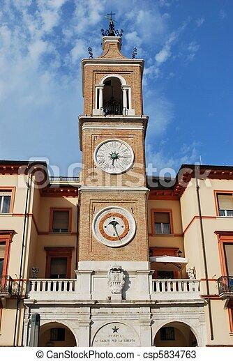 Double clock tower - csp5834763