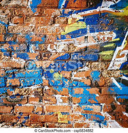 Brick Wall in Ghetto. - csp5834882