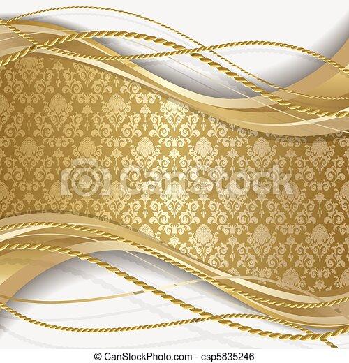 gold leaves clip art