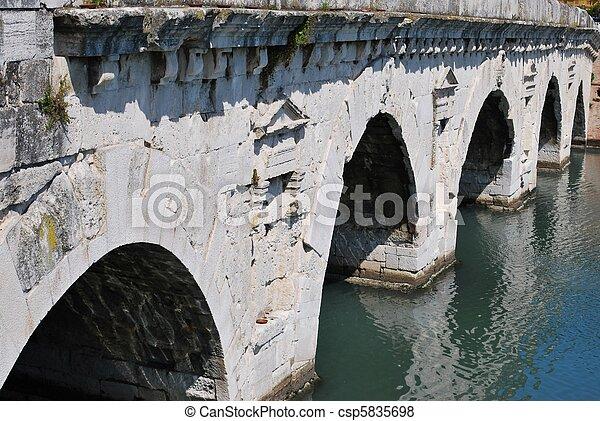 Tiberius' bridge, Rimini, Italy - csp5835698