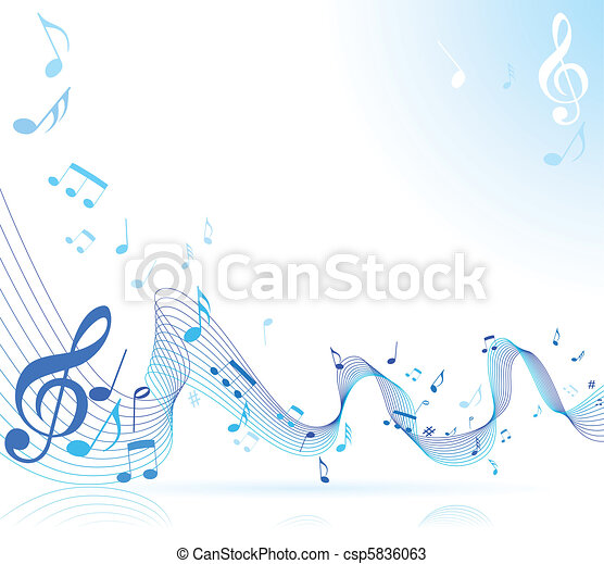Music notes - csp5836063