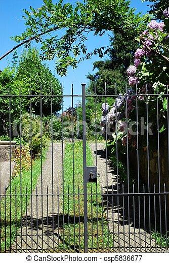 Garden gate - csp5836677