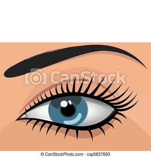 Woman blue eye - csp5837693
