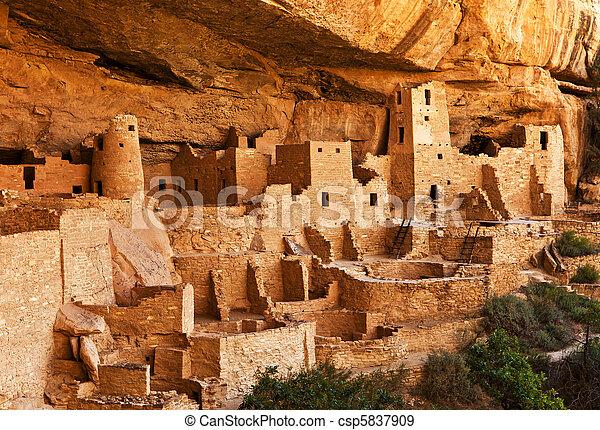 Mesa Verde  - Pueblo land - csp5837909