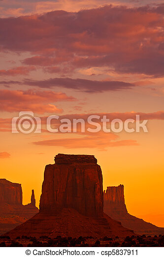 Monument Sunset - csp5837911