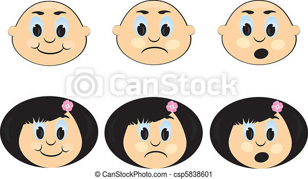 Icon with a Children\'s emotions. - csp5838601