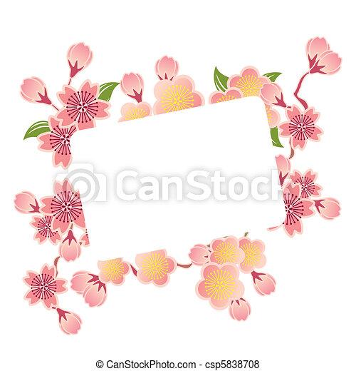 Cherry blossoms frame - csp5838708