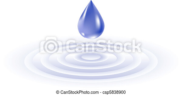 Water drop falling - csp5838900
