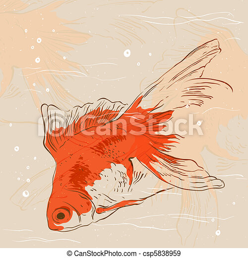 Goldfish line drawing - photo#47
