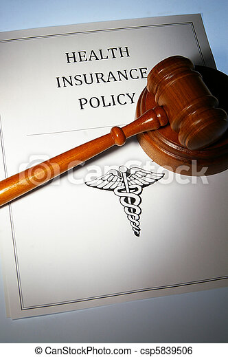 health insurance policy and law gavel - csp5839506