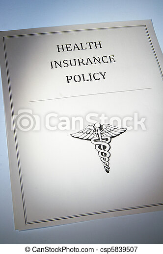 health insurance policy or document - csp5839507