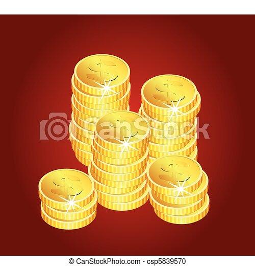 golden coins - csp5839570