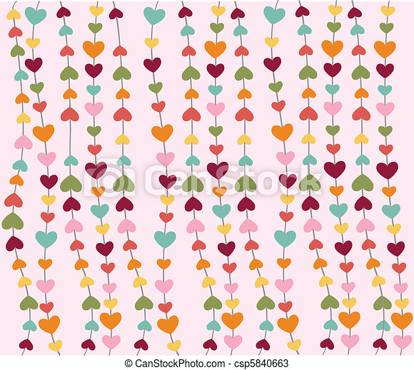 heart icons, valentine\'s day - csp5840663