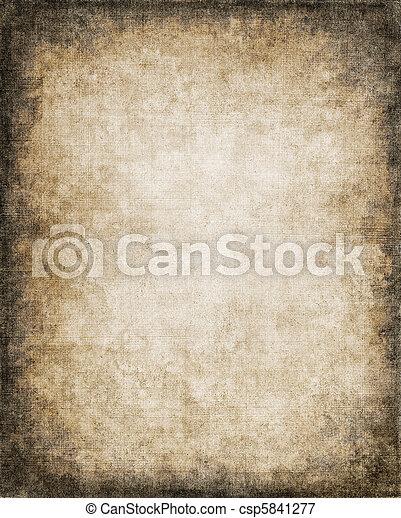 Grungy Paper Vignette - csp5841277