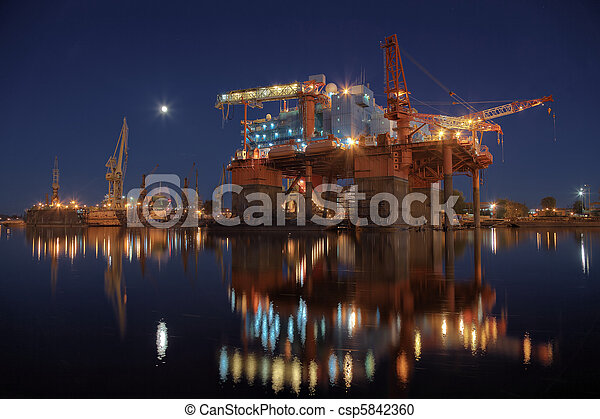 Oil rig in the yards - csp5842360