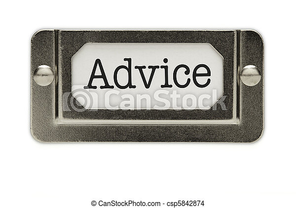 Advice File Drawer Label - csp5842874
