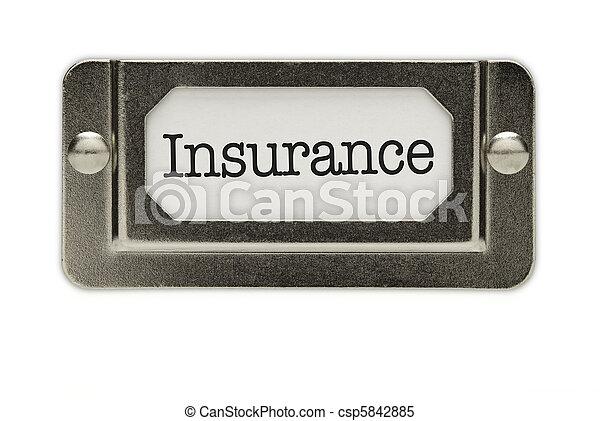 Insurance File Drawer Label - csp5842885