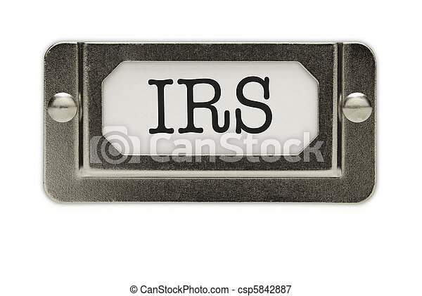 IRS File Drawer Label - csp5842887