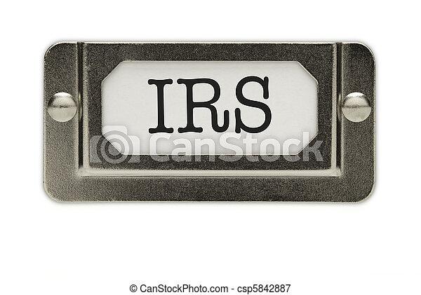 IRS File Drawer Label - csp5842887
