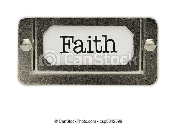 Faith File Drawer Label - csp5842899