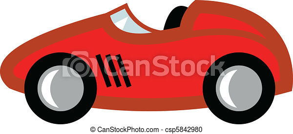 Race Car Cartoon - csp5842980  Race Car Cartoon Top View