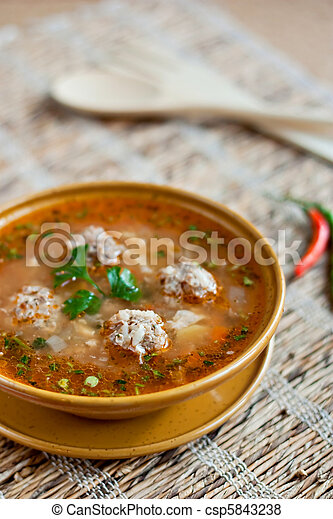 Meatballs sour soup - csp5843238
