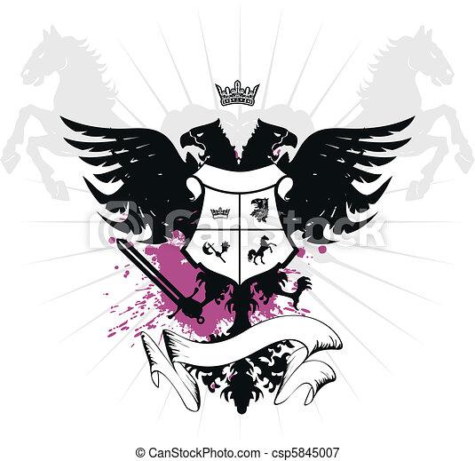 heraldic eagle double head04 - csp5845007