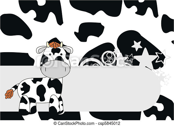 cow  cartoon background - csp5845012