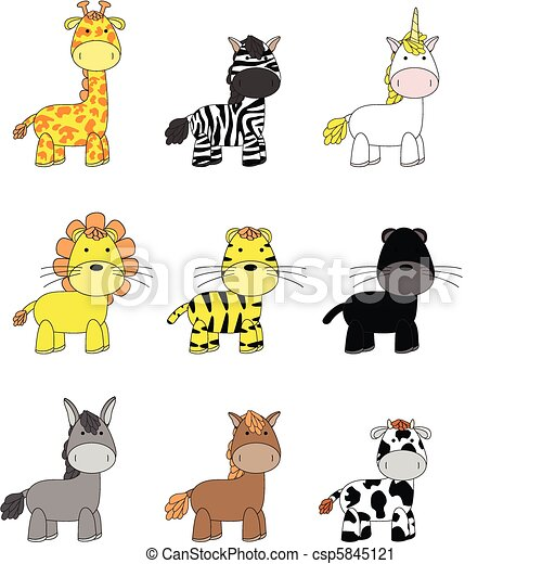 animals cartoon set 02 - csp5845121