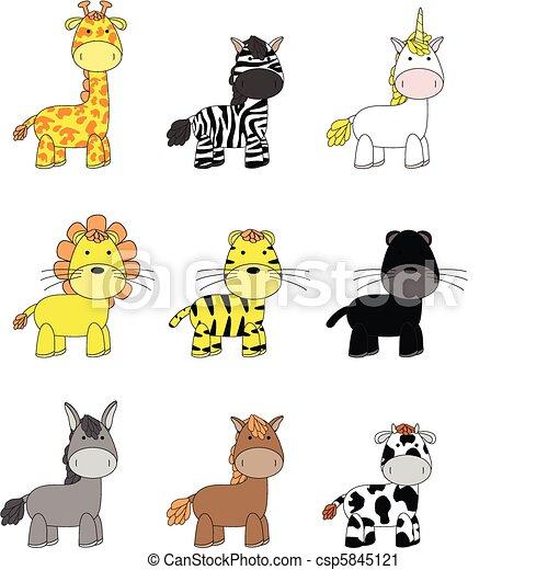 animals cartoon set 02 - csp5845121