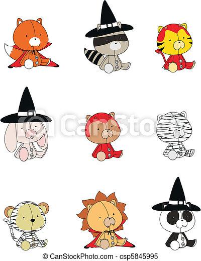 clipart vector of animals halloween cartoon set in vector format csp5845995 search clip art free clip art pumpkin outline free clip art pumpkin outline