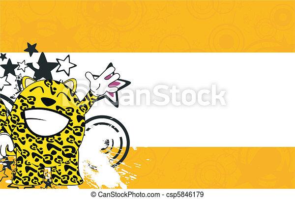 jaguar, caricatura, Plano de fondo,  4 - csp5846179