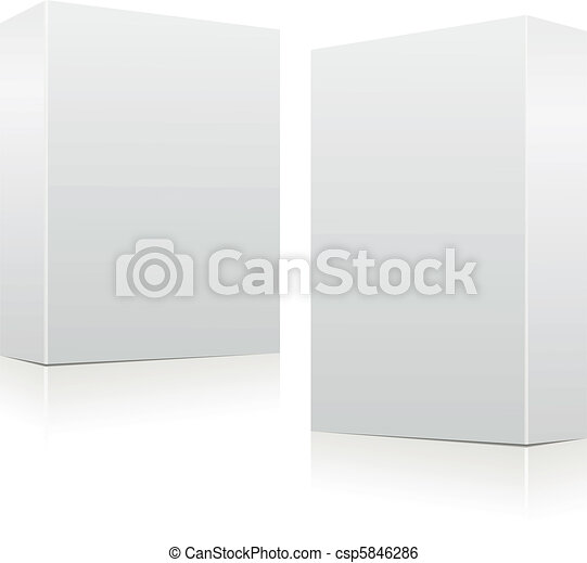 Clear white boxes - csp5846286