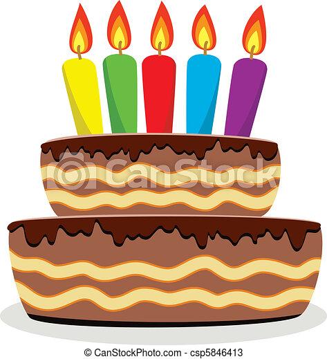 birthday cake - csp5846413