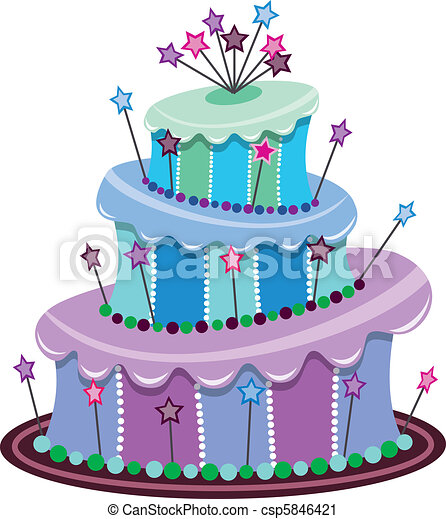 Small Cake Clipart : Vector Clipart af Stor, F?dselsdag, Kage - Vektor, Stor ...