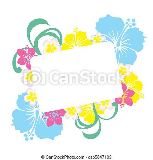 Hibiscus frame - csp5847103
