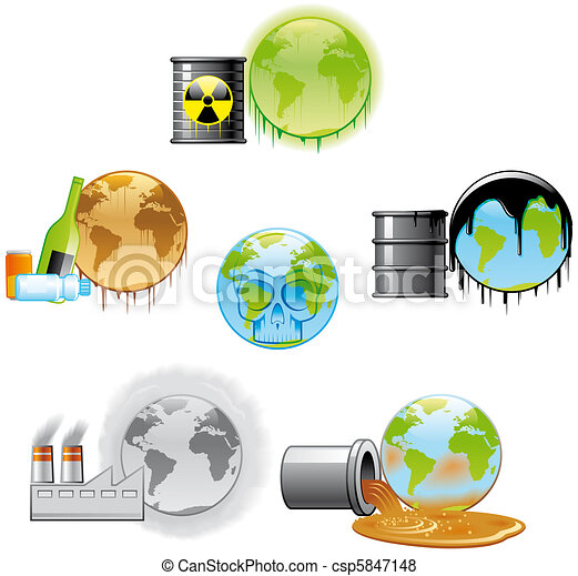 Environmental pollution icons - csp5847148