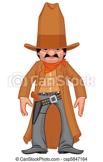 Western gunman - csp5847164