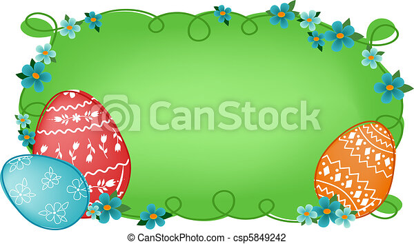 Easter banner with text field - csp5849242