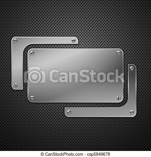 Abstract metal background. Vector illustration. - csp5849678