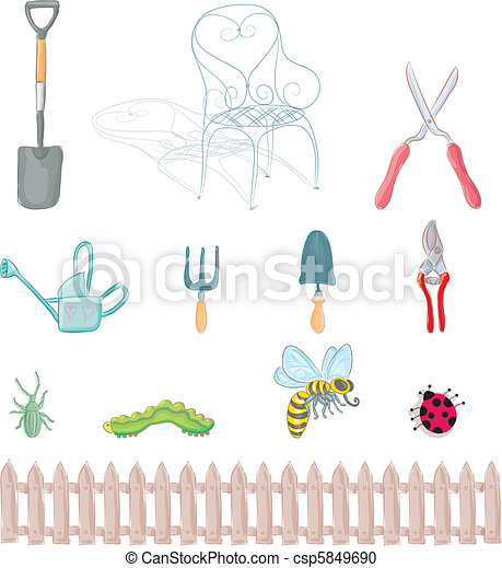Vector clip art de objetos jardiner a completo for Objetos de jardineria