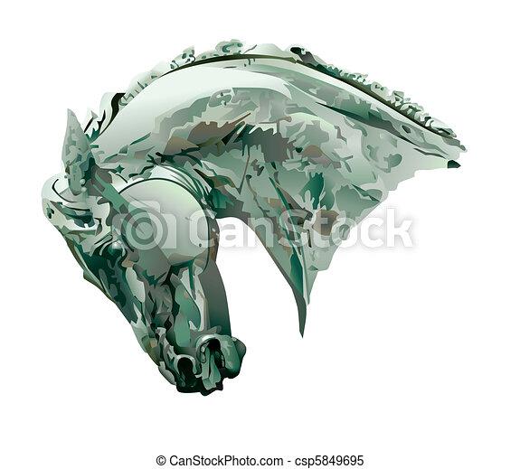 Horse Head Sculpture - csp5849695