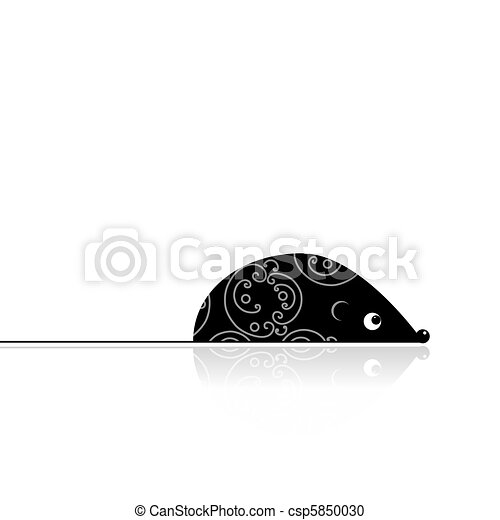 Computer mouse black for your design - csp5850030