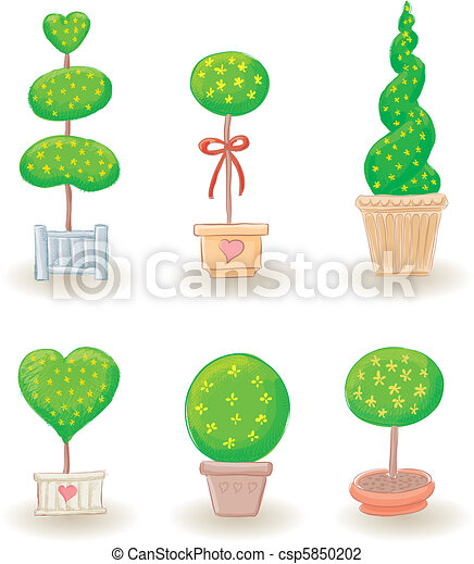 Garden Trees - set 2 - csp5850202