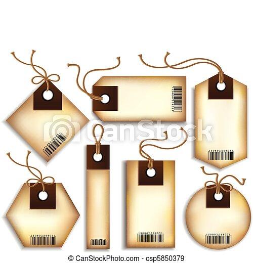 Cardboard Price Tags  - csp5850379