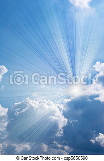 美麗, 藍色, 天空 - csp5850590