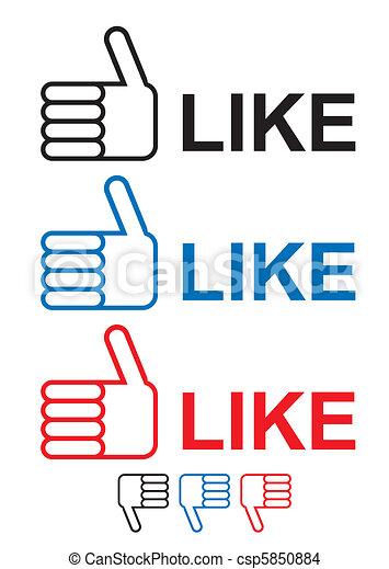 thumbs up like - csp5850884