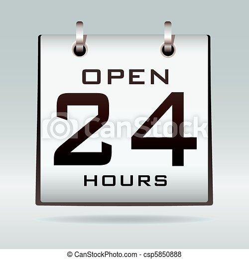 Open 24hr calendar - csp5850888
