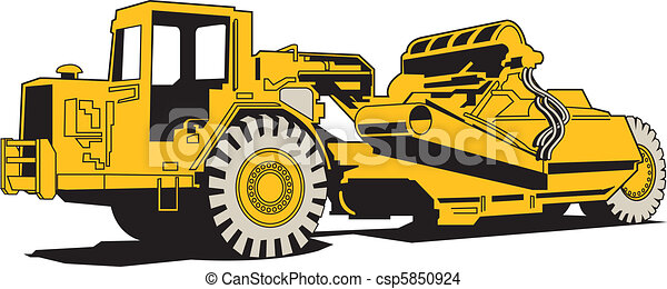 Scraper Heavy Machinery Paving - csp5850924
